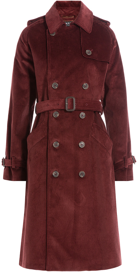 dirt cheap shop best sellers luxuriant in design $569, A.P.C. Corduroy Trench Coat