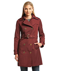 MICHAEL Michael Kors Michl Michl Kors Double Breasted Trench With Gold Buttons