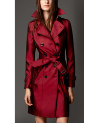 Burberry Silk Blend Trench Coat