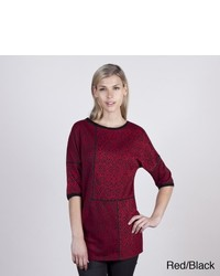 Colourworks Colour Works Patchwork Detail Wzigzag Stitch Drop Shoulder Tunic