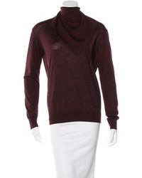 Alexander Wang Wool Silk Blend Turtleneck Sweater