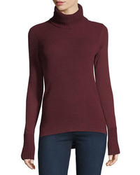 Veronica Beard Asa Long Sleeve Turtleneck Cashmere Sweater
