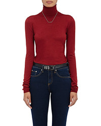 Barneys New York Cashmere Silk Turtleneck Sweater