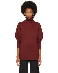 Chloé Chloe Red Cashmere Classic Long Turtleneck