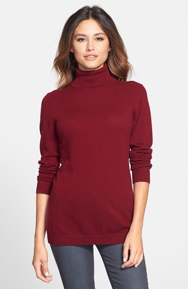 Nordstrom Collection Long Cashmere Turtleneck Sweater | Where to ...