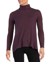 Design Lab Lord Taylor Asymmetrical Knit Turtleneck Sweater