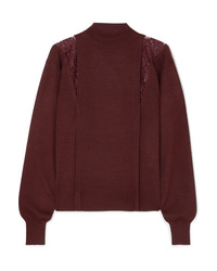 Chloé Ed Wool And Silk Blend Turtleneck Sweater