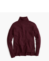 J.Crew Relaxed Wool Turtleneck Sweater With Rib Trim