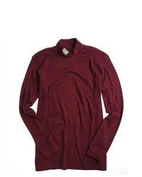 John Ashford Half Turtleneck Basic T Shirt Redwine 2xl