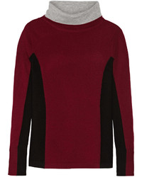 Magaschoni Color Block Cashmere Turtleneck Sweater