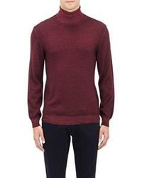 Etro Melange Turtleneck Sweater Red