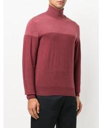 Canali Roll Neck Contrast Sweatshirt