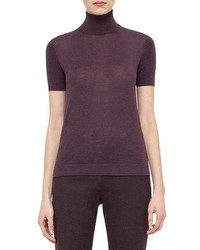 Akris Short Sleeve Turtleneck Sweater