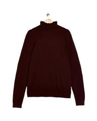 Topman Solid Cotton Turtleneck Sweater