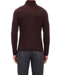 John Varvatos Turtleneck Sweater Burgundy | Where to buy & how to wear