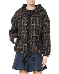 Fliver tweed hooded bomber jacket medium 4470636