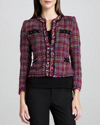 Michael simon multicolor tweed jacket michl simon medium 85107