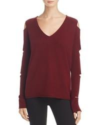 Aqua Cashmere V Neck Slash Arm Sweater 100%
