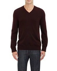 Vince Cashmere V Neck Sweater Red