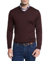 Collection merino silk v neck sweater medium 3648850