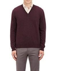 Barneys New York V Neck Sweater Red Size Medium