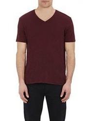ATM Anthony Thomas Melillo Jersey V Neck T Shirt Red Size L