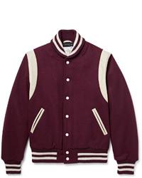 Burgundy Varsity Jacket
