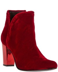 Opening Ceremony Velvet Ankle Boot