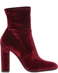 Steve Madden 100mm Stretch Velvet Ankle Boots