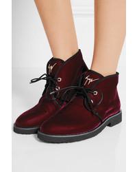 Giuseppe Zanotti Velvet Boots 6tS23t