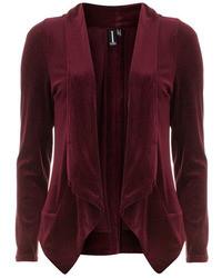 Dorothy Perkins Burgundy Flecked Velvet Blazer