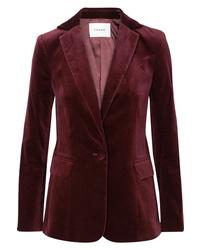 Frame Classic Cotton Blend Velvet Blazer