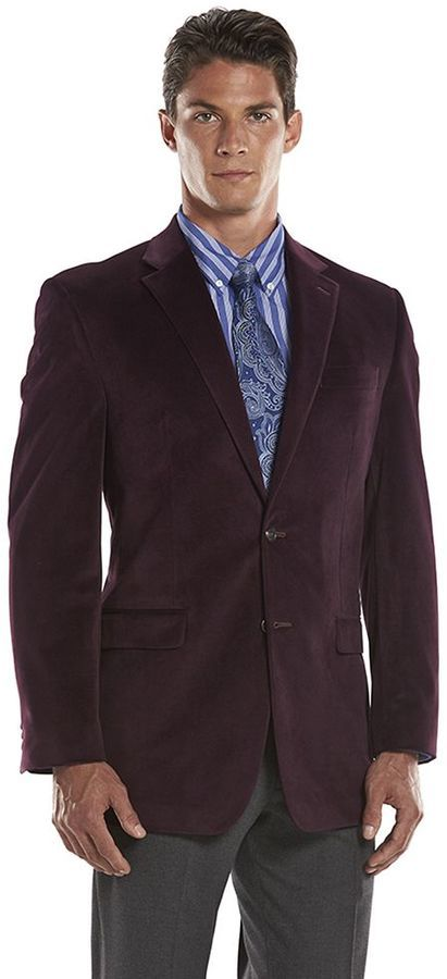 Chaps Classic Fit Burgundy Sport Coat | Where to buy & how to wear