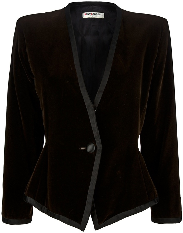 Saint Laurent Yves Vintage Collarless Jacket