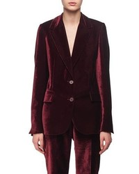 Velvet two button blazer medium 4983478