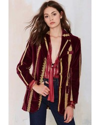 Nasty Gal Vintage Dolce And Gabbana Lucia Embroidered Velvet Blazer