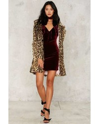 Nasty Gal Bevan Velvet Mini Dress