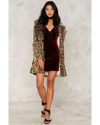 Nasty Gal Bevan Velvet Mini Dress