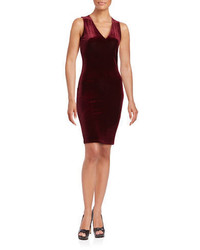 Design Lab Lord Taylor Velvet Bodycon Dress