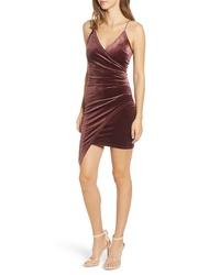TIGER MIST Lexi Velvet Faux Wrap Dress
