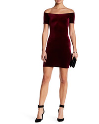 Loveady velvet off the shoulder bodycon dress medium 1160262