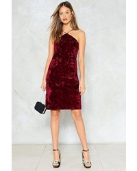 Nasty Gal Nastygal Touch Of Love Velvet Dress