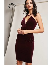 Forever 21 Strappy Velvet Bodycon Dress