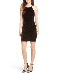Speechless Velvet Body Con Dress