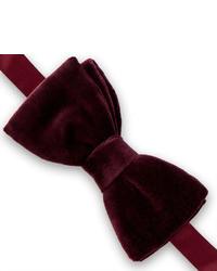Thomas Pink Cotton Velvet Ready To Wear Bow Tie