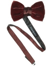 Saint Laurent Solid Velvet Bow Tie