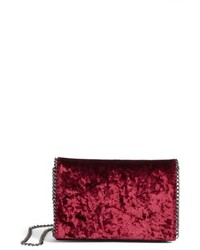 Velvet chain clutch brown medium 4913026