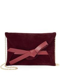 Lenore By La Regale Bow Accent Velvet Envelope Clutch