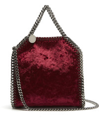 Stella McCartney Tiny Falabella Velvet Cross Body Bag