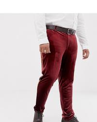 Burgundy Velvet Dress Pants